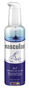 Masculan 2 in 1 Massage Gel & Lube Basic Natural