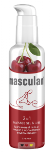 Masculan 2 in 1 Massage Gel & Lube Cherry